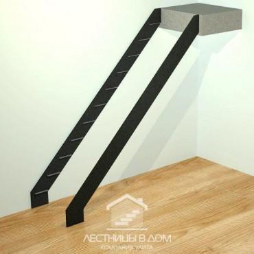Лестница на тетивах прямая
