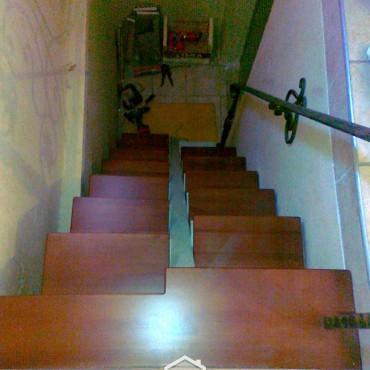 """Металическая лестница в подвал """"утиный шаг"""" г. Павловский Посад"""