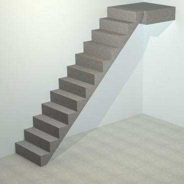 Лестница бетонная прямая