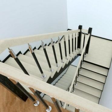 Обшивка лестницы бетонной П образной с площадками